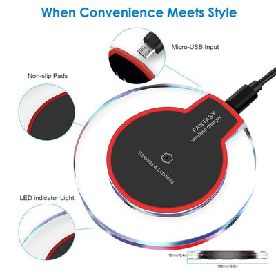 Wireless Charger Qi Standard for IPhone X/Iphone 8/Iphone 8 plus Limitless Charging Pad for Samsung Galaxy S3/S4/S5/S6/Note2/Note3/Note4,