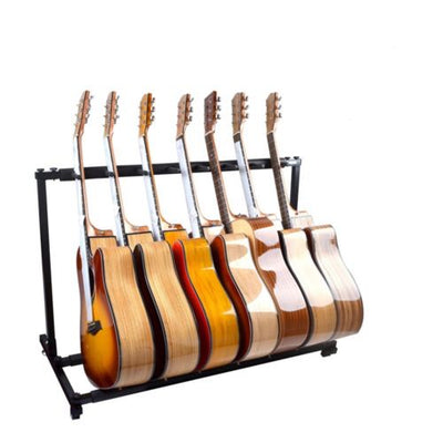7 Guitar Stand Display Rack Holder for Electric Acoustic Bass Guitars