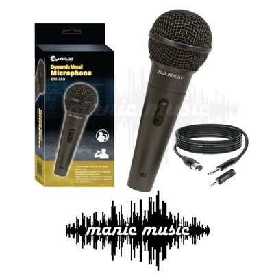 Dynamic Microphone Mic + Free Cable + Adapter Karaoke Recording Studio DJ