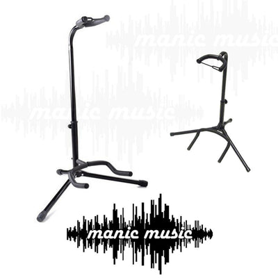 Acoustic Electric Bass Guitar Tripod Stand with Adjustable Neck Rest & Support