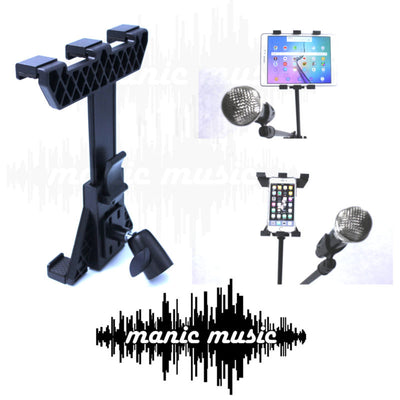 Microphone Stand Mic Clip + 360° Tablet Mobile Phone Mount Holder Free Shipping