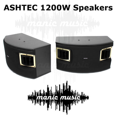 1200W Speakers For Ashtec Powered Mixer Amplifier Guitar