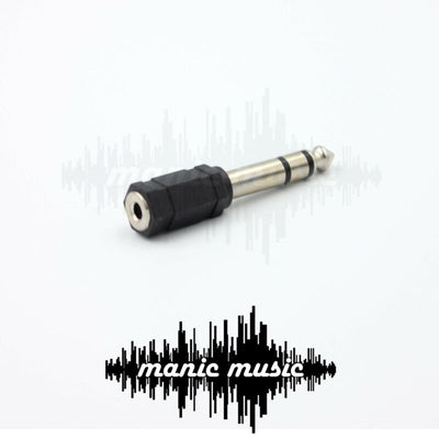 "STEREO 3.5mm 1/8"" FEMALE TRS Socket to STEREO 6.35mm 1/4"" MALE TRS Audio Adapter"