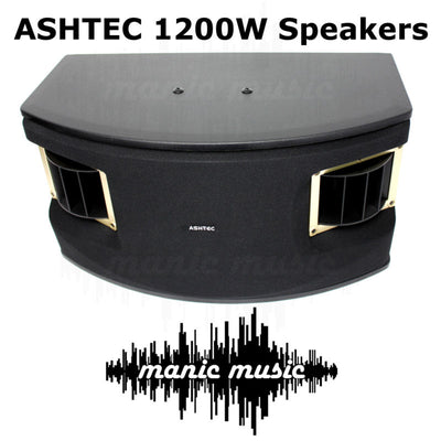 1200W Bluetooth Powered Mixer Amplifier + Speakers