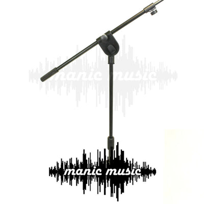 2x Round Base Mic Stand Small Footprint 1.6M 4kg Heavy Weighted Base Microphone