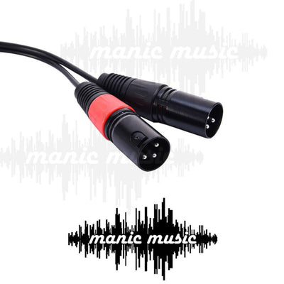 3.5mm Stereo Jack to 2 XLR Male Y Adapter PC Laptop Mixer PA Speaker Camera