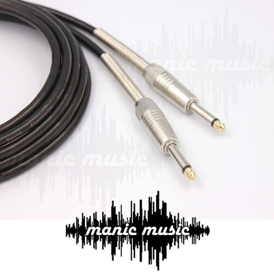 "Guitar Cable 1/4"" 6.35 Mono Jack Instrument Audio Mic Lead Australian Made FREE POSTAGE"