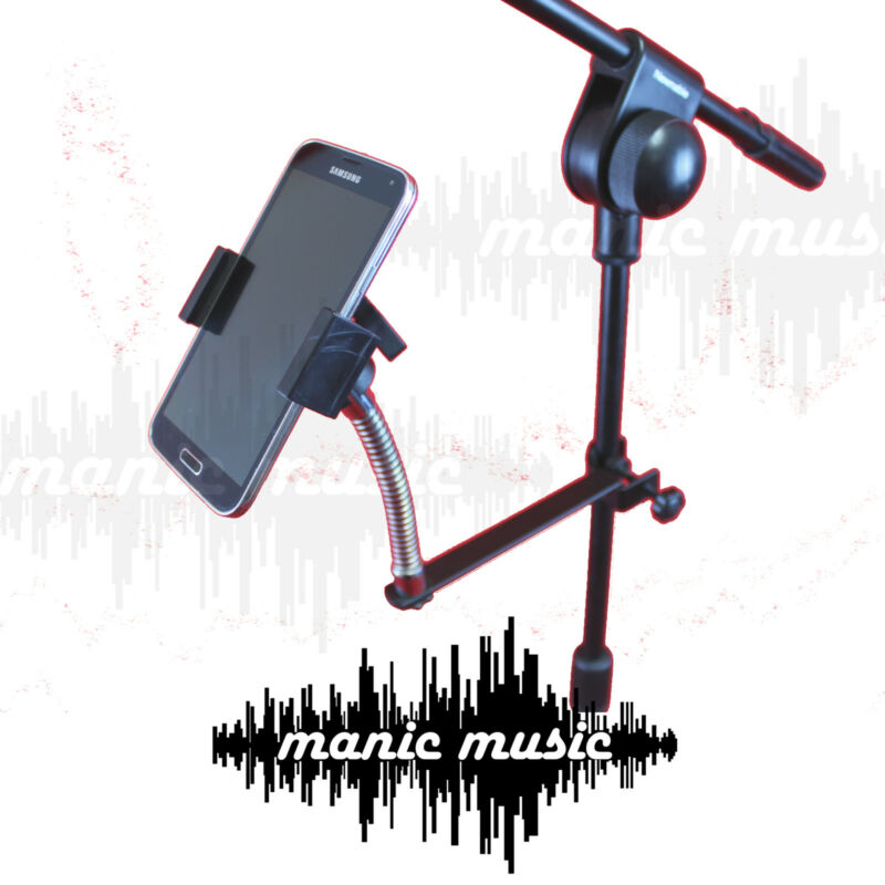 Universal Metal Microphone Mic Stand Mount Holder Phone iPhone