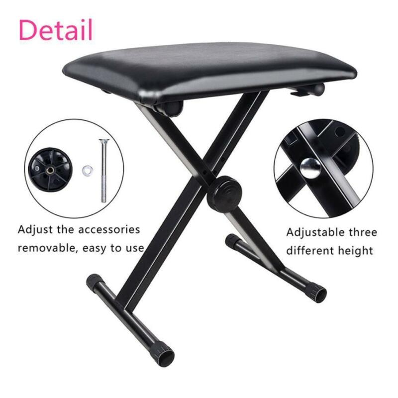 Remarkable Portable Piano Stool Adjustable Folding 3 Way Keyboard Pu Leather Bench Seat Inzonedesignstudio Interior Chair Design Inzonedesignstudiocom