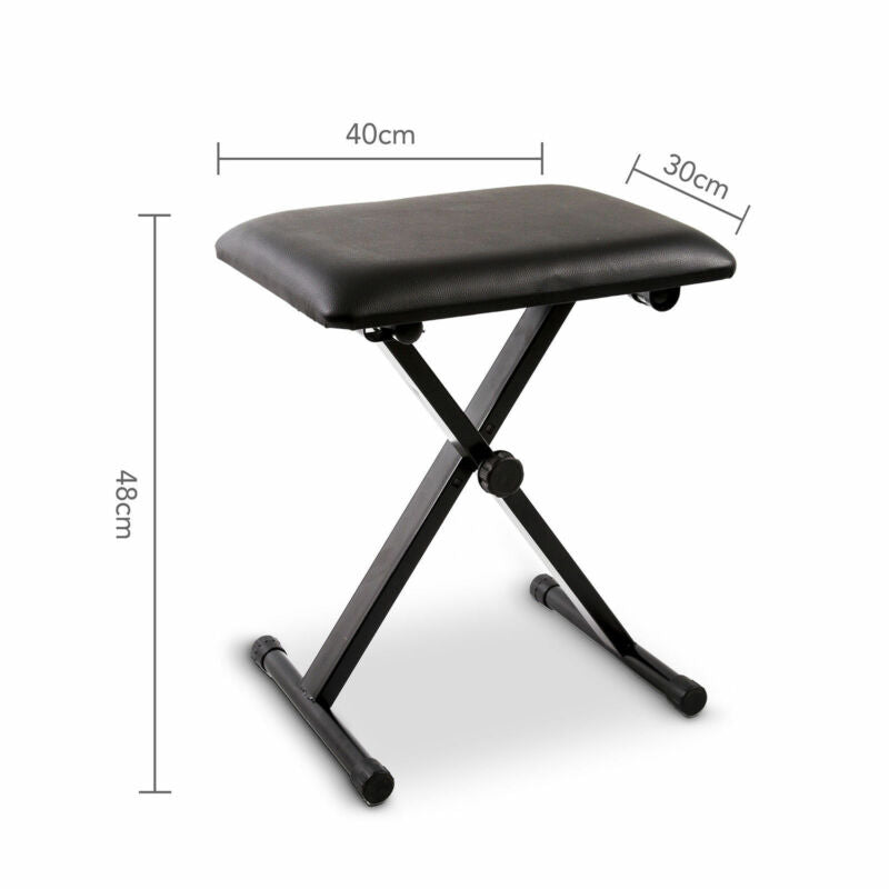 Swell Portable Piano Stool Adjustable Folding 3 Way Keyboard Pu Leather Bench Seat Dailytribune Chair Design For Home Dailytribuneorg