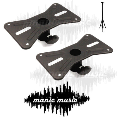 2x All Steel Speaker Mount Adapter Plate for 35mm Tripod Speaker Stands