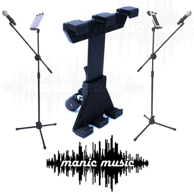 360° Metal Ball Socket Phone Tablet Mount Clamp Holder For Microphone Mic Stand