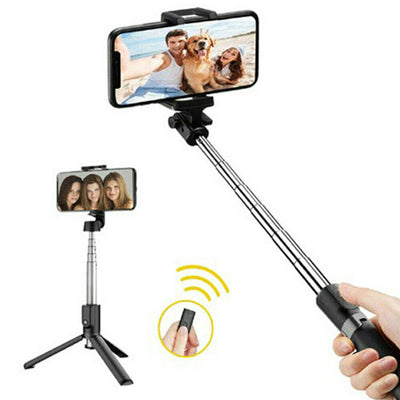 Selfie Stick Tripod Bluetooth Mobile Stand With Remote 3 in1 For iPhone Samsung
