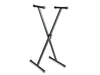 Keyboard Stand Steel X-Stand Braced Black Height Adjustable Flat Folding