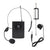Wireless Lavaliere Cordless Microphone Lapel Mic Headset Selectable UHF Frequencies Rechargable