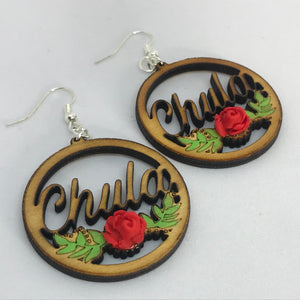 "Chula Laser Cut 1"" earrings"