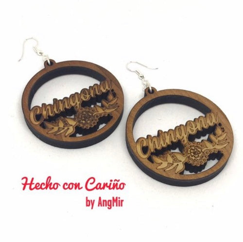 Chingona Laser Cut earrings
