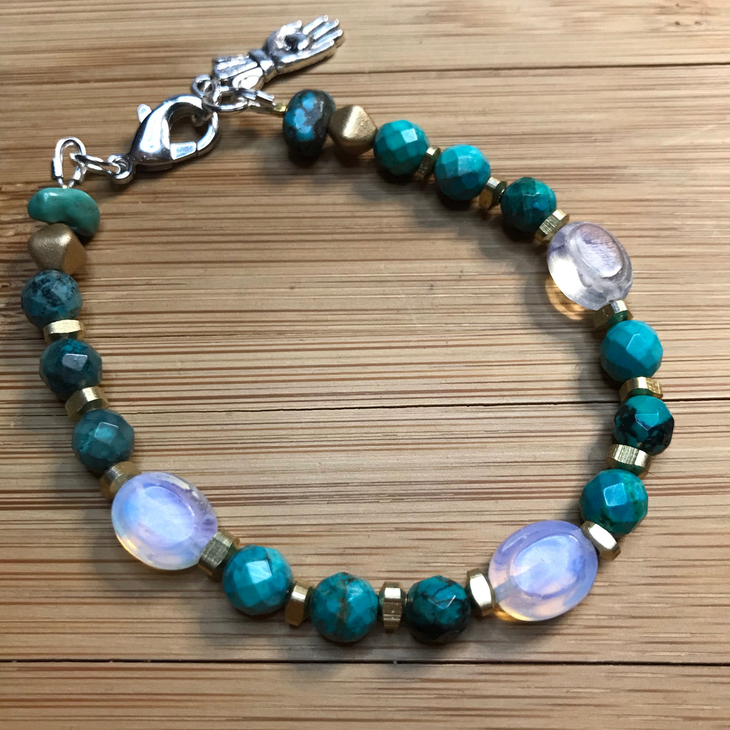 Turquoise with Opalite bracelet