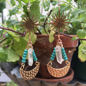 Clear Quartz Crystal earrings