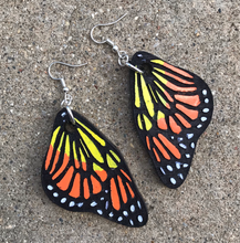Load image into Gallery viewer, Monarch Butterfly Earrings acrylic