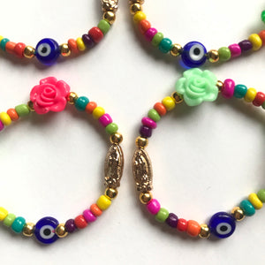 Virgen de Guadalupe thread bracelet