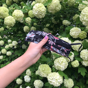 Face Mask - Black Floral