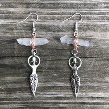 Load image into Gallery viewer, Goddess - Clear Quartz Earrings
