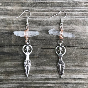 Goddess - Clear Quartz Earrings