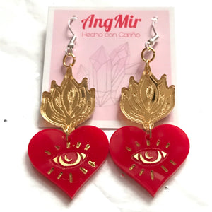 Sagrado Corazón earrings