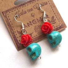 Load image into Gallery viewer, Calavera Rose Earrings