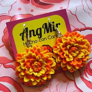 Cempasuchil Earrings/ Marigolds