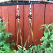 Load image into Gallery viewer, Smoky Quartz statement earrings