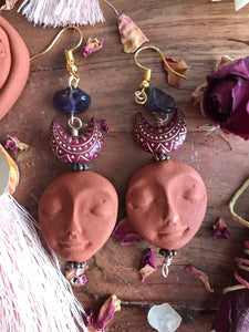 Amethyst Moon Child earrings