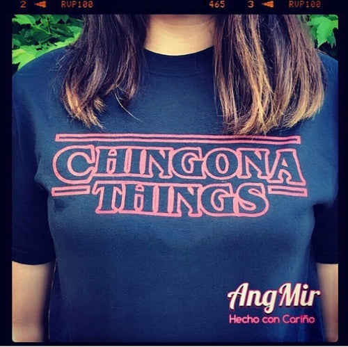 Chingona Things - TShirt  black