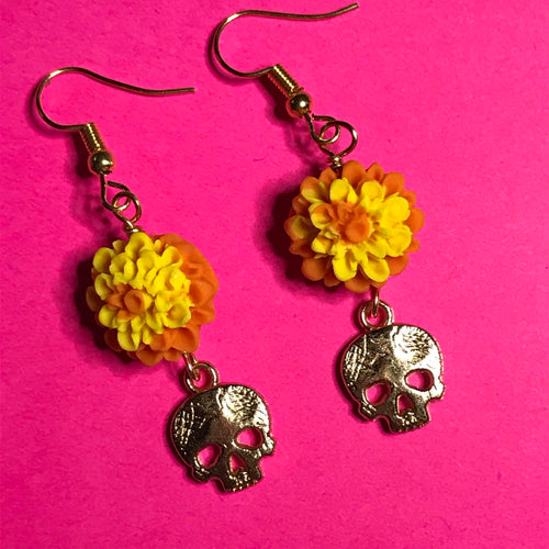 Calavera Cempasuchil  Earrings