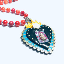 Load image into Gallery viewer, Sagrado Corazón/ Sacred Heart beaded Necklace