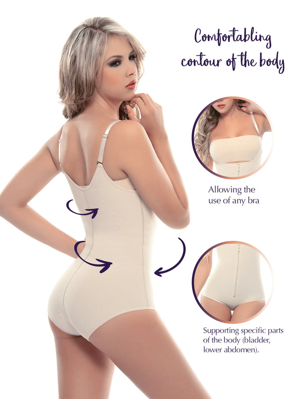 1005-1 Slimming Braless Body Shaper in Classic Panty