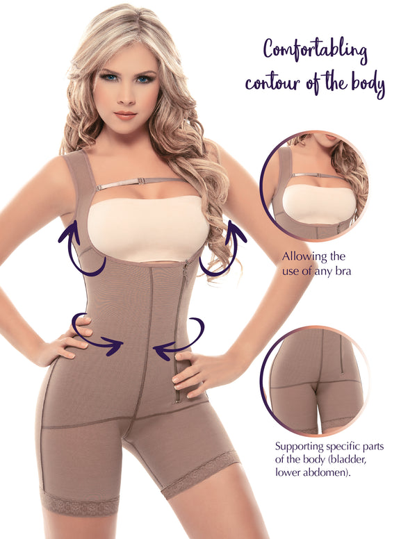 1013 Postsurgical Slimming Braless Body Shaper