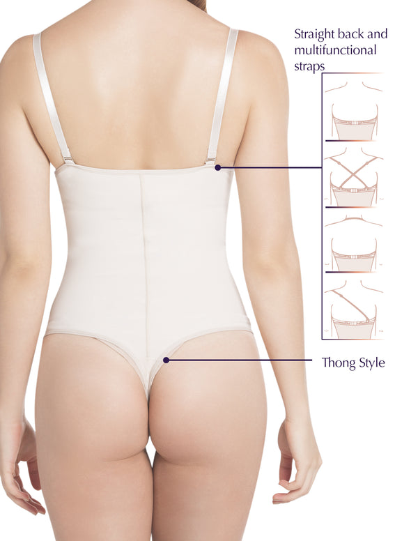 1023 Thong Strapless Shapewear with Latex