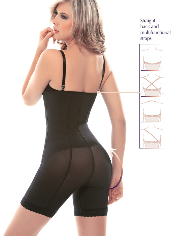 1027-1 Braless Minimizer Bodysuit with Latex