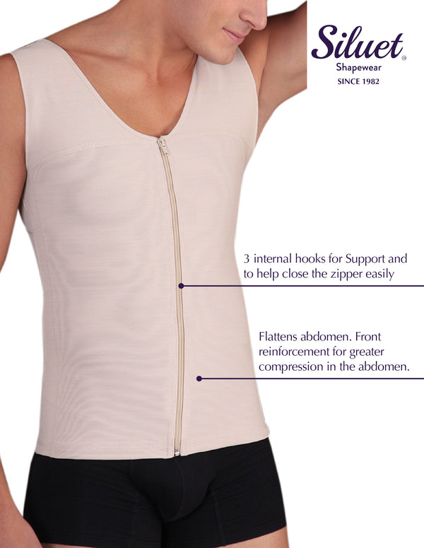 1061 Slimming Vest for Men made in Powernet