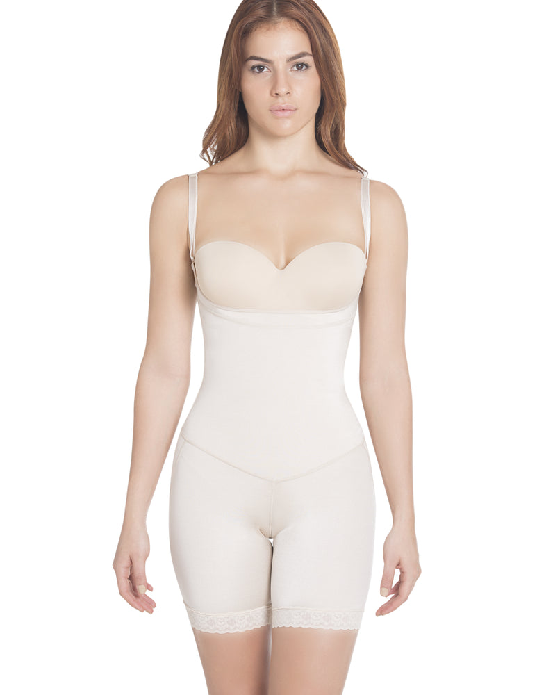 1108  Thermal latex shaper Mid-Thigh style without zipper