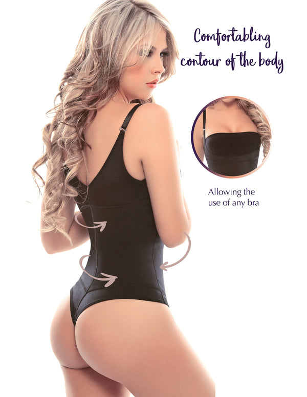 1107T Thermal latex shaper thong style without zipper