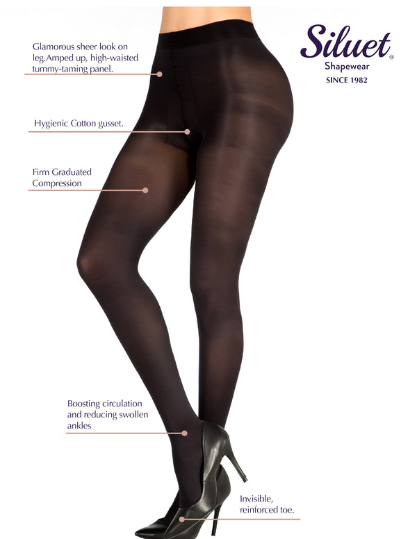 1T1496 Varicose Control 70 Sheer Support Pantyhose