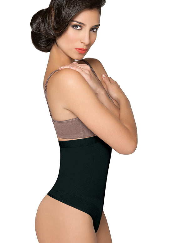1T2355 Silicone-Lined High Waisted Shaper Thong Style