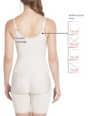 E6007 Slimming Braless Mid-Thigh Body Shaper