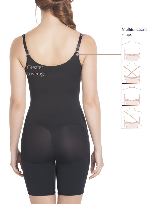 E6027 Slimming Braless Mid-Thigh Body Shaper with Latex