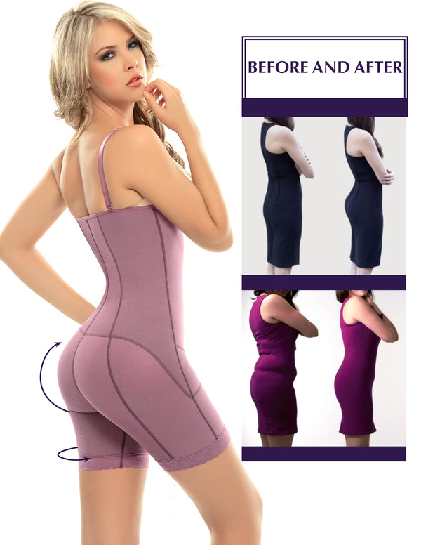 PS1 Postpartum High Compression Mid-Thigh Full Body Shaper