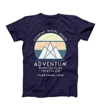 Load image into Gallery viewer, Adventum Mindfulness Triathlon T-Shirt Navy