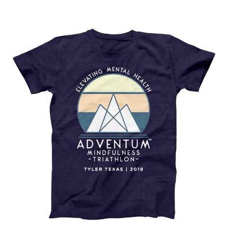 Adventum Mindfulness Triathlon T-Shirt Navy
